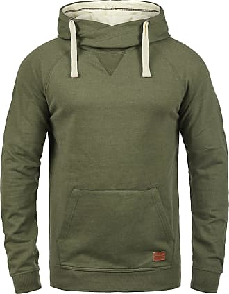 Blend Blend 703585ME Sales Mens Pullover with Hood Hoodie Sweatshirt in High-Quality Cotton Blend - Green - 20