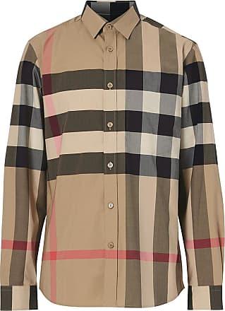 Burberry Camisa oversized xadrez - Neutro