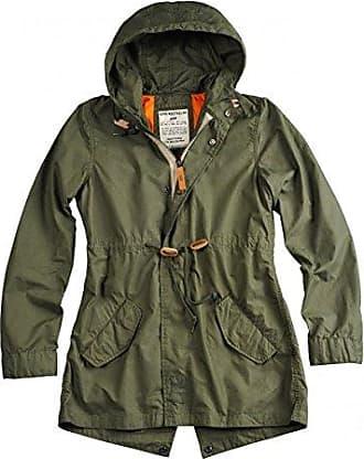 df279e5a53 Alpha Industries Damen Jacke Jack Baumwollmix modisches Langarmoberteil  Unifarben, Größe: L, Farbe: