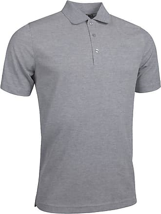 Glenmuir Mens MSP7373 Performance Pique Polo Shirt Light Grey Marl XL