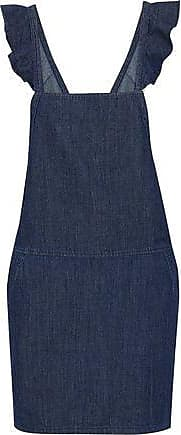 Joie Joie Woman Mikki Ruffle-trimmed Denim Mini Dress Dark Denim Size XXS