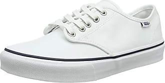 Vans Camden stripe canvas sneakers in black & white