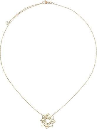 Natalie Perry Jewellery Colar com pingente Mandala de ouro 9k - Dourado