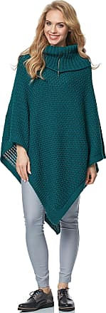 Merry Style Womens Poncho MSSE0020 (Dark Green, S/M)