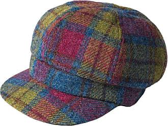 Red Failsworth Hats Gabby Harris Tweed Baker Boy Cap