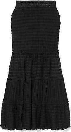 Jonathan Simkhai Shirred Stretch-lace Midi Skirt - Black