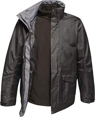 Regatta Mens Benson III Hooded Jacket (XXXXL) (Traffic Black)