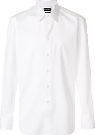 Emporio Armani buttoned long-sleeve shirt - White