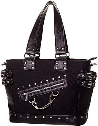 7e9d737830b70 Banned Gothic Damen Handtasche - Schultertasche Handschellen