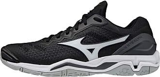 Mizuno Wave Stealth V Handball Shoe, Black/White/Ebony