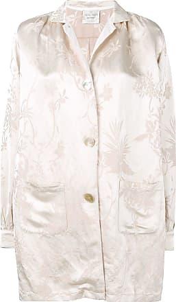 Forte_Forte jacquard button coat - Neutrals
