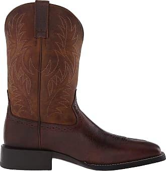 Ariat Mens Sport Western Boot, Fiddle Brown/Powder Brown, 10.5 Wide