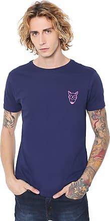 Doc Dog Camiseta Doc Dog Manga Curta Estampada Azul-marinho