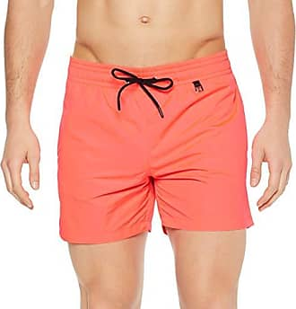 d17c34888f HOM Sunlight Beach Boxer Short Homme,Rouge (Rouge Fluo 1032), Small (
