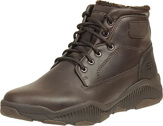 Skechers Mens Mens Relaxed Fit Ridge Fowler Boots in Chocolate - UK 9.5
