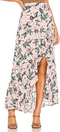 BB Dakota Jack by BB Dakota Haole Wrap Skirt in Pink