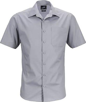 James & Nicholson JN644 Mens Short Sleeve Business Shirt Steel 5XL