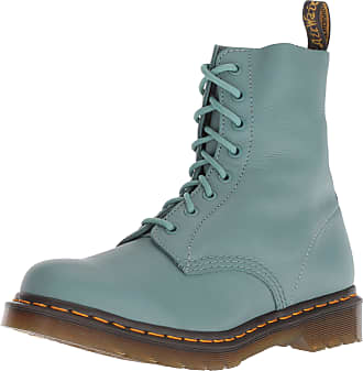 38cc632b8 Dr. Martens Ladies 1460 Pascal Pale Teal Virginia 8 Eyelet Lace up Leather  Boots-
