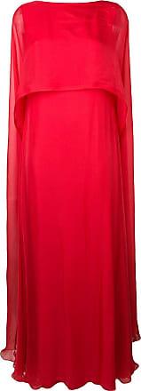 Irina Schrotter Vestido pelerine longo - Vermelho