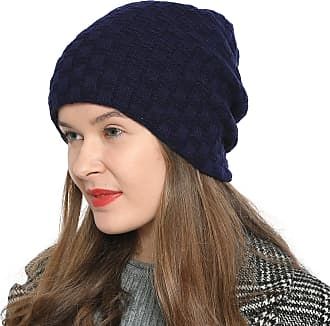 DonDon Womens Winter Beanie Slouch Style with Very Soft Inner Lining - Dark Blue