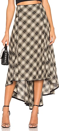 Free People North West Plaid Skirt in Cream
