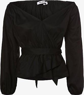 NA-KD Damen Bluse schwarz