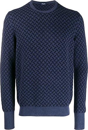 Drumohr Suéter decote careca de cashmere - Azul
