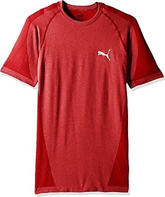 04a7cad813 Puma Mens Evoknit Better T-Shirt, High Risk Red Heather, Medium