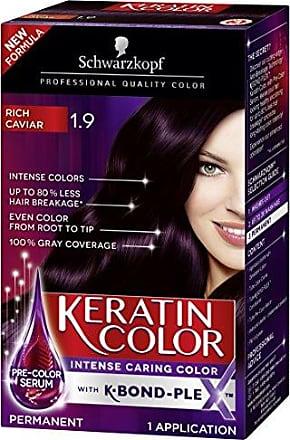 Schwarzkopf Keratin Hair Color, Rich Caviar 1.9, 2.03 Ounce