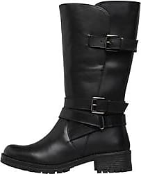 Onfire mid calf leather boots