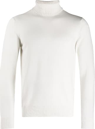 Eleventy Suéter canelado gola alta - Branco
