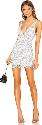 Superdown Larissa Lace Dress in White