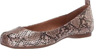 Jessica Simpson Womens Mickella Ballet Flat, Gold Snake, 9 UK