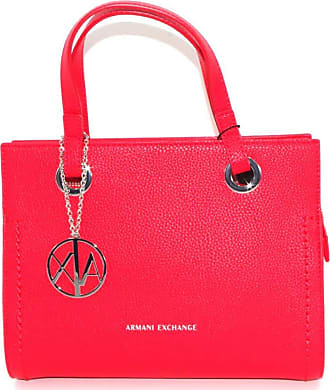 A X Armani Exchange Womens Red Handbag with Shoulder Strap and Inner Pockets 942270 CC723 BIOSABORSE