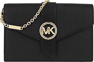 Michael Kors Charm MD Wallet On Chain Crossbody Bag Black