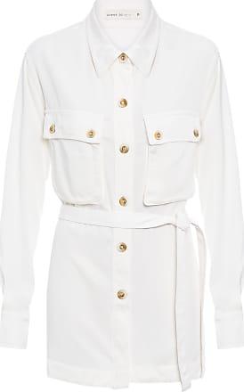 Dress To Parka Camisa Utilitária - Off White