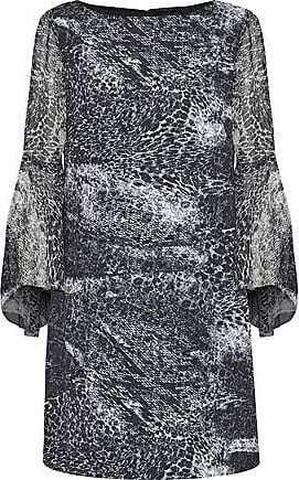 966a21643035 Elie Tahari Elie Tahari Woman Esmarella Printed Georgette-paneled Crepe De  Chine Mini Dress Black