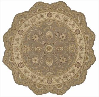 Nourison Heritage Hall (HE09) Olive Free Form Area Rug, 6-Feet by 6-Feet (6 x 6)