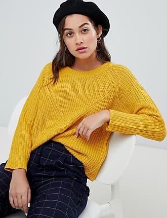 Jacqueline de Yong crew neck sweater - Yellow