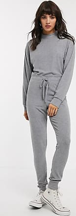 Topshop soft jumpsuit in grey