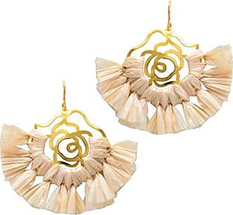 Tinna Jewelry Brinco Dourado Girassol (Bege Grande)