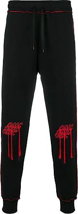 Omc embroidered sweatpants - Preto