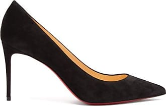 Christian Louboutin Kate 85 Suede Pumps - Womens - Black
