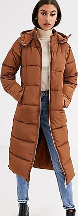 Glamorous longline padded coat-Brown