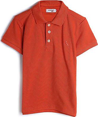 Reserva Mini Camisa Polo Reserva Mini Infantil Lisa Laranja
