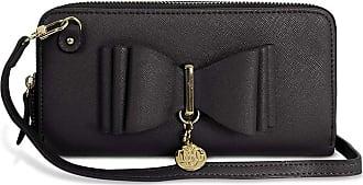 Craze London New Womens LYDC London Bow Designed Women Wallet Handbag Fashion Purse (Black)