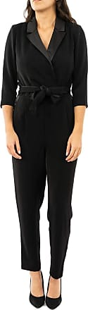 Only Womens ONQSOFIA 3/4 Ankle Smoking Jumpsuit PNT, Black (Black Black), Small