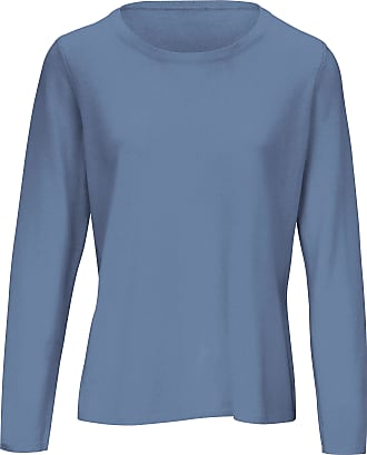 include Round neck jumper in pure new wool and cashmere include blue