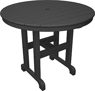 POLYWOOD Outdoor POLYWOOD Round 36 in. Recycled Plastic Dining Table Mahogany, Patio Furniture - RT236MA