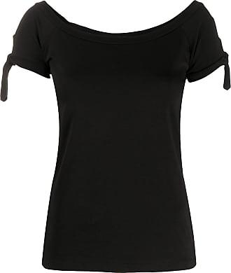 Snobby Sheep Camiseta slim com decote em U - Preto